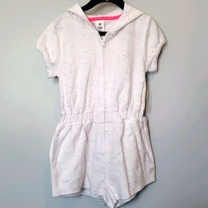 Tucker + Tate cover up zip up hooded romper